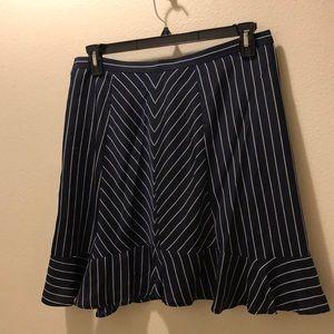 navy pinstripe skirt- j crew